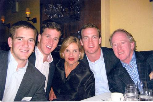 The Manning Family: Eli, Cooper, Olivia, Peyton and Archie