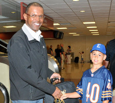 Drew Newsome and Gale Sayers